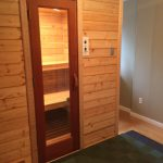 Walk in dry sauna